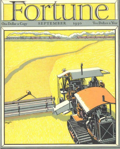 Fortune cover illustration by Peter Helck, September 1930, 2008.6.1