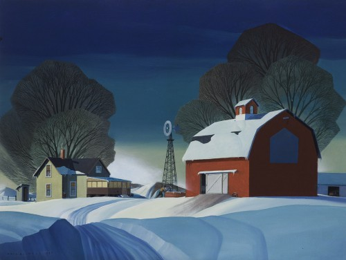 "Dale Nichols, ""Morning Chore"", 1972  oil on canvas, 2007.4"