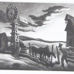 "Thomas Hart Benton, ""Nebraska Evening"", 1941, lithograph, 2008.7.1"