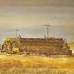 "Jim Hamil,""Giant Haystack, Late Afternoon"", watercolor, 2011.3.1"