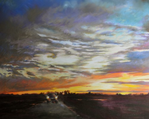 "Jennifer Homan, ""Approaching"" pastel, courtesy of Modern Arts Midwest"